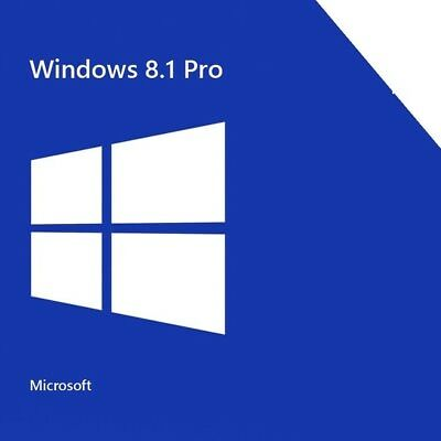 Microsoft Windows 8.1 Professional  KEY 32/64Bit Pro Vollversion Schlüssel DE UK