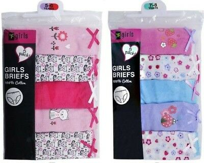 10 Pairs Girls Pants Briefs Knickers Size Age 2-3 / 3-4 / 5-6 / 7-8 Years