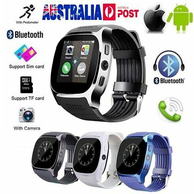 T8 Bluetooth Smart Watch Phone Mate SIM GSM Pedometer For Android IOS Samsung