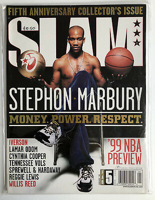 SLAM Magazine 31 STEPHON MARBURY JAN 1999 5th ANNIVERSARY ISSUE NBA Basketball
