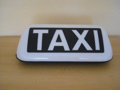 Starker Led Magnet Taxi-Dachzeichen Taxilicht Taxilampe + Stecker Weiß Top !