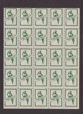 USA Polly Parrot cinderella stamp block see scans x 2