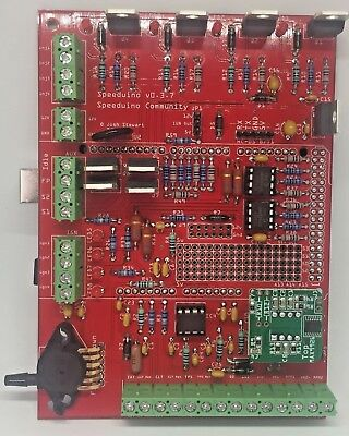Full Assembled Speeduino 0.3.7v PCB board + Arduino Mega + VR conditioner