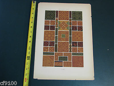 """Vintage French Cromolithograph Antique - 15"""" x 11"""" - Moyen Age Middle Age"""