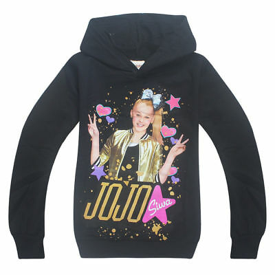 Jojo Siwa Cute Kids Girl Long Sleeve Pullover Sweatshirt Hoodie Tops Shirt