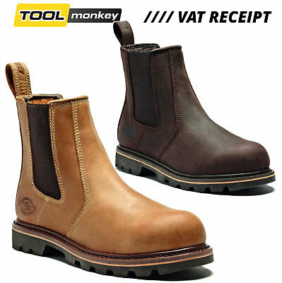 Dickies Fife II New Safety Dealer Mens Boot - Steal Toe - Leather -  RRP £67.50