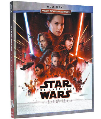 Star Wars Episode 8 VIII The Last Jedi Blu-ray No Digital Copy with Slipcover