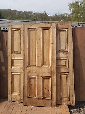 Old  heavy Victorian four panel door-reclaimed