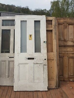 Victorian Glass Front Door Wooden Reclaimed Salvaged