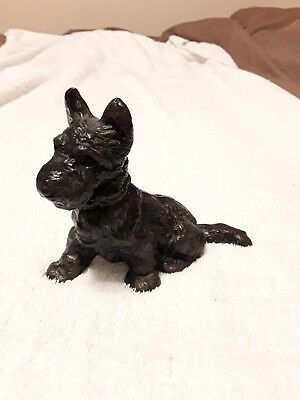 Vintage Hubley?  Cast Iron Scottie Dog Scottish Terrier Door Stop Paperweight