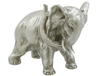Russian Silver Table Ornament of an Elephant by Karl Fabergé 1890s