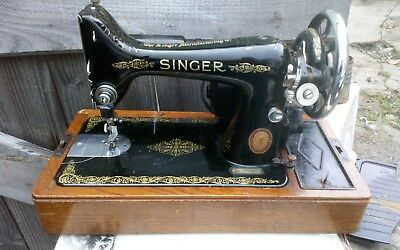 Singer 99k electric Sewing Machine,  Serviced & oiled c1940s tools cased