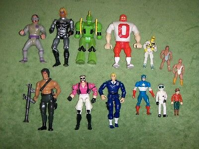 vintage action figure mix lot of 13 1980's misc