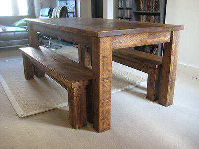 Chunky solid wood plank wooden rustic junction dining kitchen table chunky solid wood plank wooden rustic junction dining kitchen table bespoke watchthetrailerfo