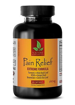 Pain pills - PREMIUM PAIN RELIEF - 610MG - msm with turmeric - 1 Bottle