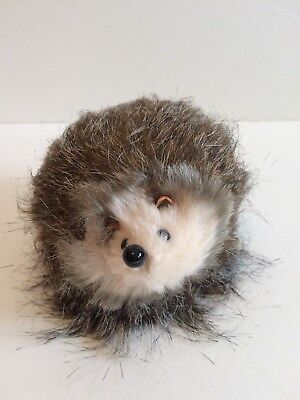 HEDGEHOG Faux Fur Figurine Animal Collectible - Natural-Looking - NWOT