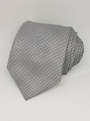 Taylor&Wright Classic Grey Black White pattern Tie used Excellent Condition