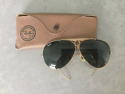Vintage B&L Ray Ban Pilot Aviator Sunglasses 10K gold