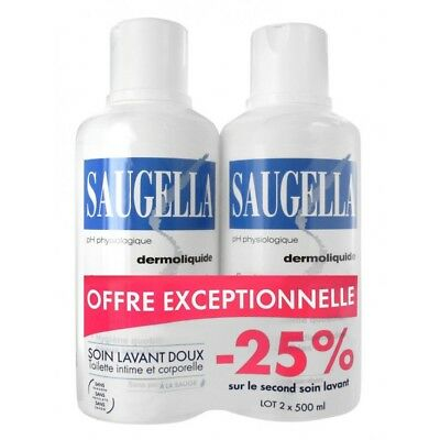 Saugella Dermoliquide Lot de 2 x 500ml