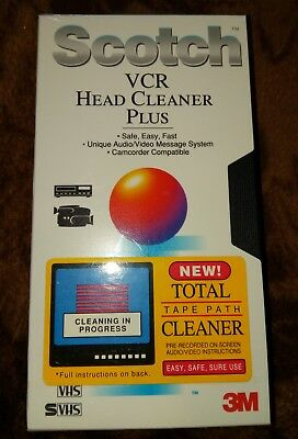 3M Scotch (S) Vhs Vcr Dry Head Cleaner Plus New Sealed