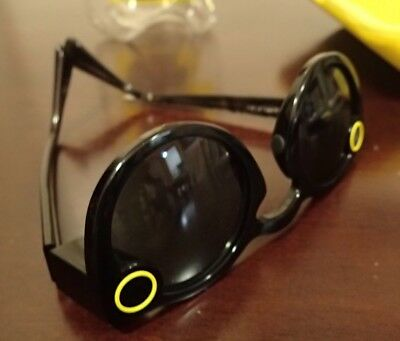 """USED Snapchat """"Spectacles"""" Video Recording Sunglasses BLACK"""
