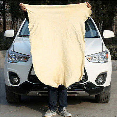 Natural Chamois Leather Car Cleaning Cloths Washing Suede Absorbent Towel HL