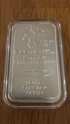 1oz 79th Element 999 Pure Silver Art Bar
