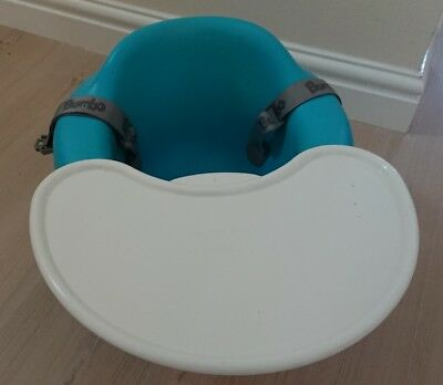BUMBO baby seat comes with straps and tray table