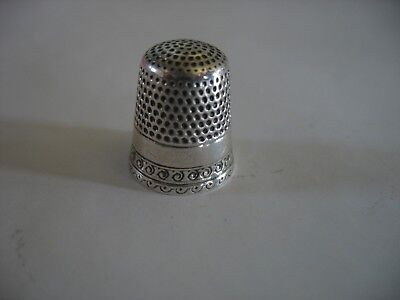 Vintage Sterling Silver Thimble Size 8 made by Waite Thresheer 4 grams