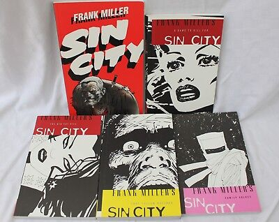 Frank Miller's Sin City collectable paperback books 1-5