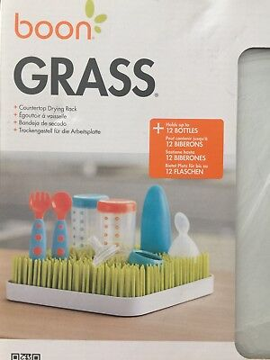 Boon Green green Grass square drying rack with tray. New with box