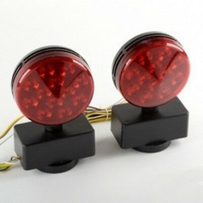 12 v Led Magnetic Mount Rear Towing Tow Lights Kit Harness for Car Trailer
