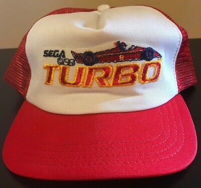 Vintage 80s 1981 Youth Kids Sega Turbo Racing Video Game Snapback Hat