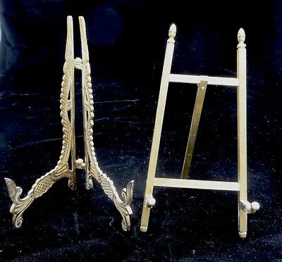 Pair of Vintage Solid Brass Tabletop Easels