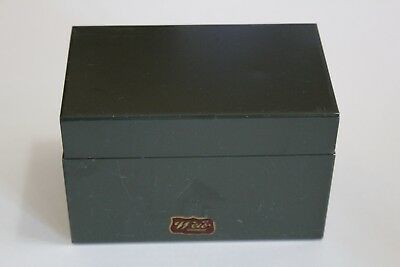 "Vintage Weis Monroe MI card file box No.533  3""x5"" Made In USA nice condition"