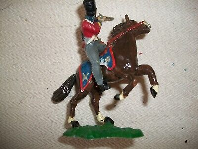 NICELY PAINTED 54MM ITALERI NAPOLEONIC BRITISH SCOTS GREY ON TIMPO HORSE   Lot 1