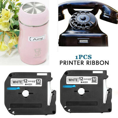 M-M231 MK-231 Compatible For Brother  PT P-touch Label Tape Cassette 12mm Ribbon
