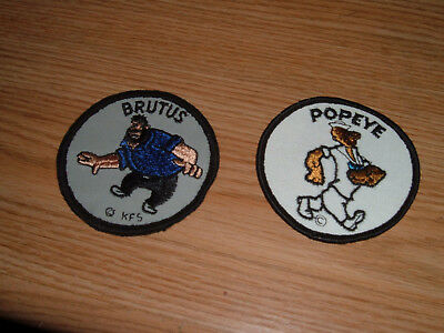 Vintage Popeye And Brutus Embroidered Patches