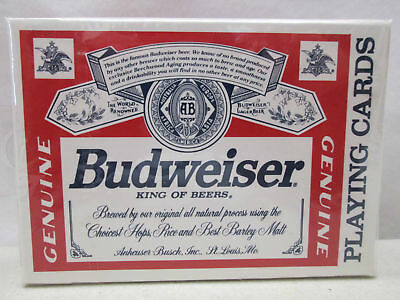 Budweiser Beer Deck of Playing Cards New Sealed United States Playing Card Co.