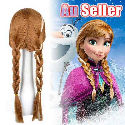 Frozen Princess Elsa Braid Wig Hair Piece Kid NEW G Anna