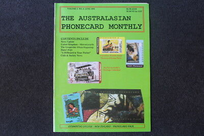 The Australasian Phonecard Monthly Magazine, June 1994, V2 No 6 Edition - RARE