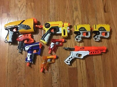 Lot of 9 Working Nerf Guns! ALL TESTED! Free Shipping!