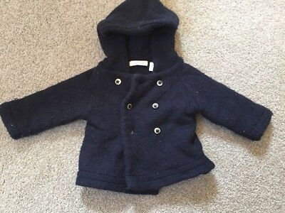 Country Road Baby Boy - Wool Mix Winter Hooded Jacket (size 3-6 Months)