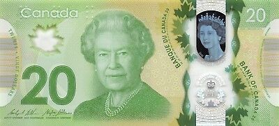 Canada    $20  2015  P 108c  Series  FW  Polymer  Uncirculated Banknote