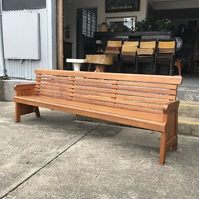 Antique Bench Pew Great Order X South Brisbane Heritage Listed Hall Church Pine
