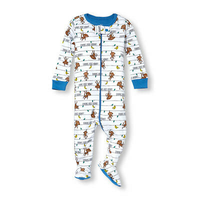 Girls' Clothing (newborn-5t) Nwt Childrens Place Girl Cute Banana/monkey Stretchie Sleeper Pajamas 6-9 Months Clothing, Shoes & Accessories