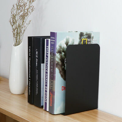 2 Color Heavy Duty Metal Bookends Book Ends Home Office Stationery Supplies