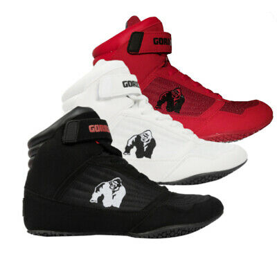 Gorilla Wear Schuhe Schwarz Rot High Tops Bodybuilding Fitness