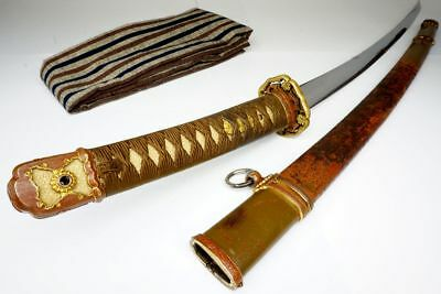 WW2 Gunto Japanese Military Officer's Katana Samurai Sword MASAYUK正幸 90cm Sturdy