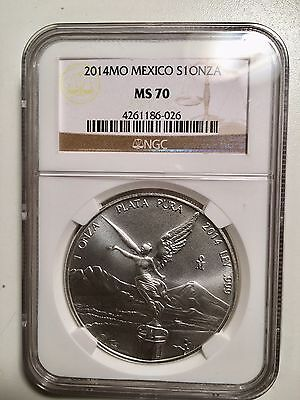 2014 1 OZ MO Libertad S1 OnZa NGC MS70 Brown Label Key Date Lower Mintage